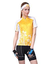 Недорогие -Nuckily Жен. С короткими рукавами Велокофты - Оранжевый Велоспорт Джерси, Ультрафиолетовая устойчивость, Дышащий, Впитывает пот и влагу,