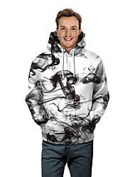 cheap -Men's Plus Size Long Sleeve Hoodie - Geometric Hooded