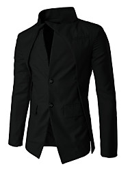 cheap -Men's Blazer - Solid Colored, Oversized Stand