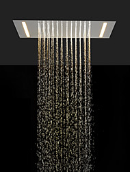 cheap -Stainless Steel 304 110V~220V Alternating Current Bathroom Rainfall Shower Head With Energy Saving LED Lamps