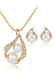 cheap -Women's Jewelry Set - Imitation Pearl Drop Bohemian, European, Sweet Include White For Party / Evening Party / Earrings