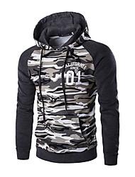 cheap -Men's Long Sleeves Hoodie - Camouflage Hooded
