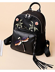 cheap -Women's Bags Oxford Cloth Backpack Embroidery for Casual All Seasons Black