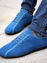 abordables -Homme Chaussures Daim Printemps Automne Confort Basket pour Décontracté Noir Bleu de minuit Bleu