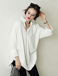 cheap -Women's Casual Shirt - Solid Colored Shirt Collar