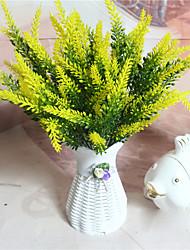 baratos -1 Ramo Plástico Plantas Flor de Mesa Flores artificiais