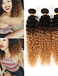 cheap -Brazilian Hair Kinky Curly Human Hair Weaves 3pcs Hot Sale