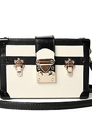 cheap -Women Bags PU leatherette Shoulder Bag Buttons for Casual All Season Fuchsia Yellow Blushing Pink White Blue