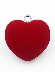 Недорогие -Жен. Мешки Бархат Вечерняя сумочка Кристаллы Красный