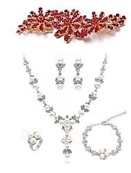 Недорогие -Жен. Комплект ювелирных изделий - Искусственный бриллиант европейский, Мода Включают Шпильки для волос / Свадебные комплекты ювелирных изделий Белый Назначение Свадьба / Для вечеринок