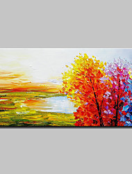 cheap -Oil Painting Hand Painted - Landscape Simple Modern Canvas