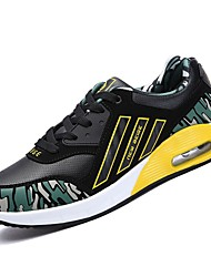 Obuv PU Jaro Podzim Pohodlné Atletické boty pro Sportovní Ležérní Černobílá Černočervená Černá/žlutá