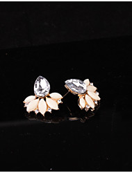 cheap -Women's Crystal Stud Earrings - Crystal Drop, Flower Fashion Light Pink / Light Green For Party / Daily