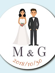 cheap -Floral/Botanicals Garden Theme Stickers, Labels & Tags - 10 Round Square Circular Unique Wedding Décor Envelope Sticker