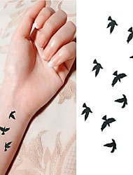 cheap -50PCS Bird Free to Fly in Sky Tattoo Stickers Temporary Tattoos Waterproof Design For Body Tattoo