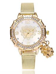 Недорогие -Жен. Наручные часы Китайский Имитация Алмазный сплав Группа Heart Shape / На каждый день / Мода Золотистый