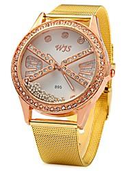 abordables -JUBAOLI Mujer Reloj de Pulsera Chino La imitación de diamante Aleación Banda Destello Dorado