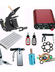 cheap -starter tattoo kits 1 cast iron machine liner & shader Mini power supply 5 x tattoo needle RL 3 5 x tattoo needle M1 5 Complete Kit