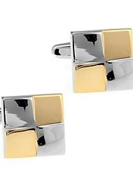 cheap -Irregular Silver Cufflinks Gold Plated Fashion Cool Birthday Gift Men's Costume Jewelry