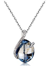 cheap -Women's Classic Sexy Pendant Necklace Crystal Cubic Zirconia Crystal Zircon Silver Plated Pendant Necklace , Party Prom