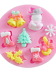 cheap -Mold 3D Cartoon For Cake For Cookie For Pie Silicone High Quality DIY Christmas
