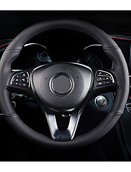 Недорогие -Чехлы на руль Настоящая кожа 38 см Черный / Черный / Красный Назначение Mercedes-Benz GLC / Класс E / Класс C Все года