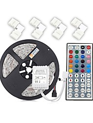 cheap -ZDM® 300 LEDs 5M LED Strip Light 1 44Keys Remote Controller 4 Connectors RGB Cuttable DC 12V