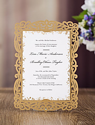 cheap -Flat Card Wedding Invitations 20 - Invitation Cards Modern Style Embossed Paper Pattern / Print