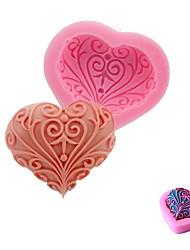 Недорогие -свадьба любовь сердце форма силиконовый торт плесень ручной работы мыло выпечки fondend mold