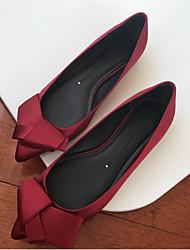 economico -Da donna Scarpe Fibra di carbonio Estate Comoda Ballerine Ballerina Appuntite Fiocco per Casual Rosso