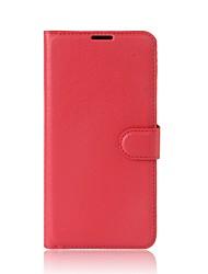 abordables -Coque Pour Xiaomi Porte Carte Portefeuille Avec Support Clapet Coque Intégrale Couleur unie Dur faux cuir pour Xiaomi A1