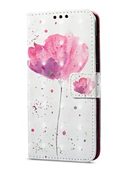 cheap -Case For Huawei P9 lite mini Card Holder Wallet with Stand Flip Magnetic Pattern Full Body Cases Flower Hard PU Leather for P9 lite mini