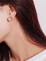 cheap -Women's Stud Earrings Imitation Pearl Sexy Fashion Imitation Pearl Circle Jewelry Going out School Costume Jewelry