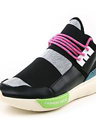 baratos -Homens sapatos Tecido Primavera Outono Conforto Tênis para Casual Ao ar livre Preto Rosa claro Branco/Preto