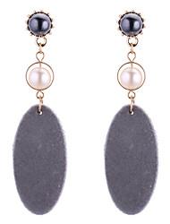 cheap -Women's Pearl Long Drop Earrings - Imitation Pearl European, Fashion Gray / Red / Green For Party