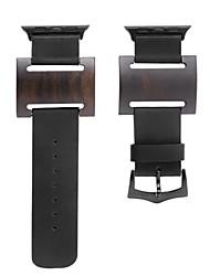 Недорогие -Ремешок для часов для Apple Watch Series 3 / 2 / 1 Apple Современная застежка Кожа Дерево Повязка на запястье