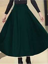 cheap -Women's Casual/Daily Knee-length Skirts,Simple Pencil Cotton Solid Winter Autumn/Fall