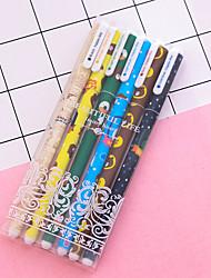 Недорогие -Гелевая ручка Ручка Гелевые ручки Ручка, Пластик Разноцветный Цвета чернил Назначение Школьные принадлежности Офисные принадлежности В упаковке 6 pcs