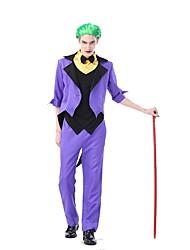 economico -Joker Costumi Cosplay Vestito da Serata Elegante Uomo Halloween Carnevale Feste / vacanze Costumi Halloween Viola Monocolore