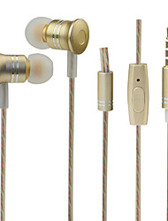 cheap -PHB P202 In Ear Wired Headphones Dynamic Plastic Pro Audio Earphone with Volume Control / with Microphone Headset