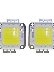 cheap -50W COB 3800LM 3000-3200K/6000-6200K Warm White/White LED Chip DC30-36V 2Pcs