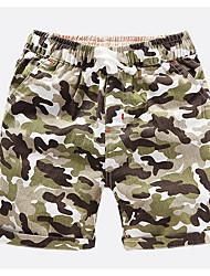 Недорогие -Мальчики Шорты камуфляж Весна Лето Синий Зеленый Оранжевый Желтый Военно-зеленный
