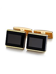 cheap -Rectangle Golden Cufflinks Crystal Copper Basic Fashion Formal Office & Career Men's Costume Jewelry