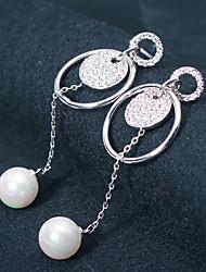 cheap -Women's Stud Earrings Hoop Earrings Rhinestone Imitation Pearl Rhinestone Jewelry Silver Wedding Party Costume Jewelry
