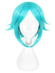 Недорогие -Парики из искусственных волос Прямой Зеленый Жен. Без шапочки-основы Парики для косплей Искусственные волосы