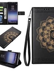 preiswerte -Hülle Für Samsung Galaxy Note 8 Kreditkartenfächer Geldbeutel mit Halterung Flipbare Hülle Geprägt Ganzkörper-Gehäuse Mandala Hart