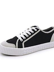Недорогие -Жен. Обувь Полотно Лето Удобная обувь Кеды На плоской подошве Закрытый мыс для Повседневные на открытом воздухе Черный Красный Зеленый