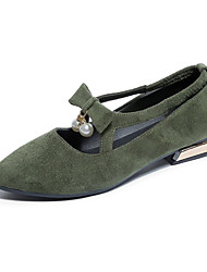 cheap -Women's Shoes Patent Leather Spring T-Strap Heels Walking Shoes Stiletto Heel Pointed Toe Hollow-out for Casual Black Red Green