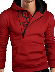 cheap -Men's Petite Daily Casual Hoodie Solid Hooded Hoodies Micro-elastic Cotton Long Sleeve Winter