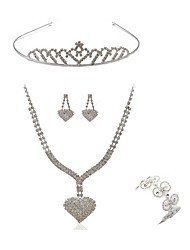 cheap -Women's Jewelry Set - Imitation Diamond Heart European, Fashion Include Headwear / Bridal Jewelry Sets White For Wedding / Party
